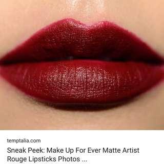 🚚 Make up forever小樣唇膏 色號:artist rouge