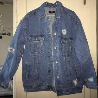 Missguided Oversized Denim Jacket