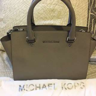 Authentic Excellent Used Michael Kors Selma Grey