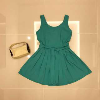 Turquoise Dress and [Padini Authentic] Bag