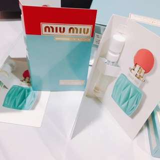 Miu miu perfume sample