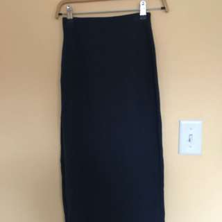 Babaton Navy blue long skirt in size XS