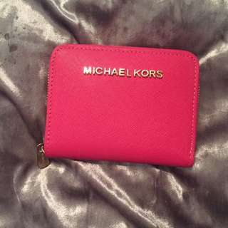 MICHEAL KORS PINK SMALL WALLET / CARDHOLDER