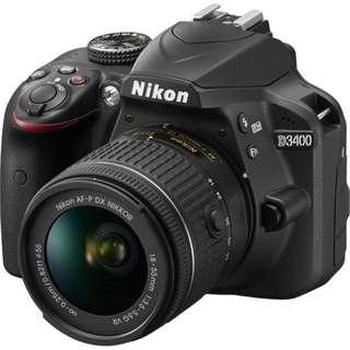Kredit Nikon D3400 DSLR Camera with 18-55mm VR Lens tanpa kartu kredit