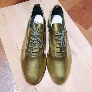 Repetto Cendrillon 經典古銅金漆亮皮牛津鞋 38號 學院風