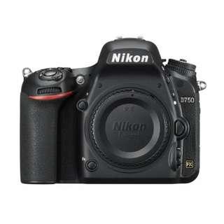 Kredit Nikon D750 FX-format Digital SLR Camera tanpa kartu kredit