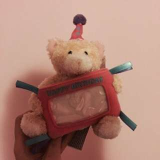 Birthday bear gift card holder