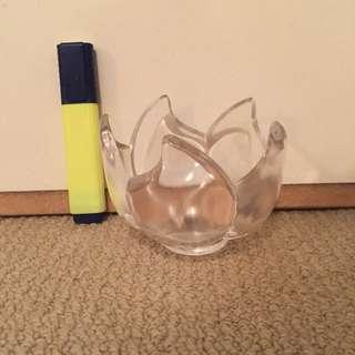 Glass Flower Bowl