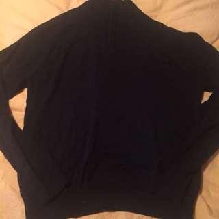 Perry Ellis quarter-zip sweater - large