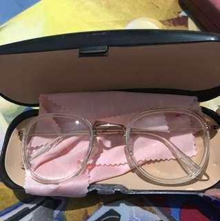 Dior clear glasses