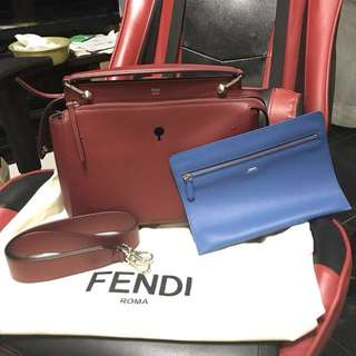 Fendi dotcom two way bag red