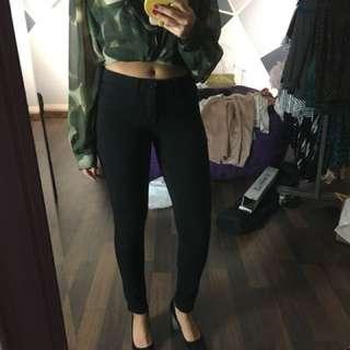 Black faux pants leggings size 3