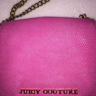 Authentic juicy couture pink leather side bag