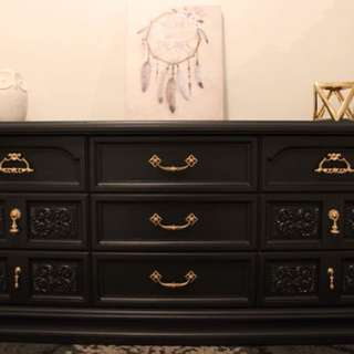 BEAUTIFUL DEEP NAVY BLUE DRESSER