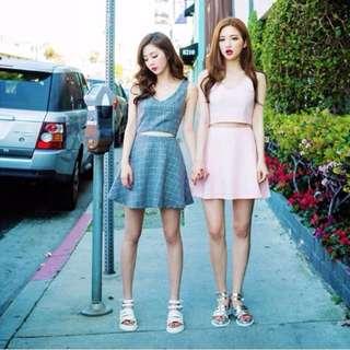 Pink Korean Skirt Size L🎀