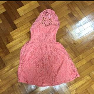 $55 New Asos pink lace skaters dress