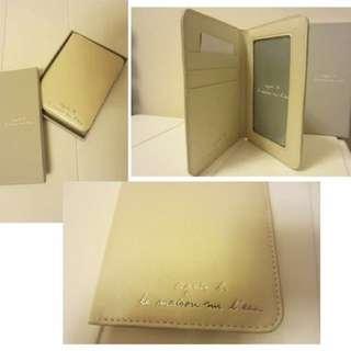 brand new agnes b passport cover (beige)