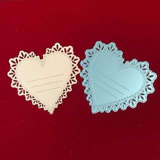Heart doily with lines scrapbooking Cutting Dies