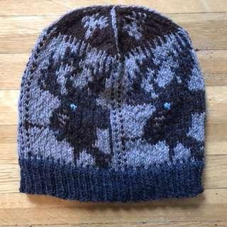 Hand knit Moose toque