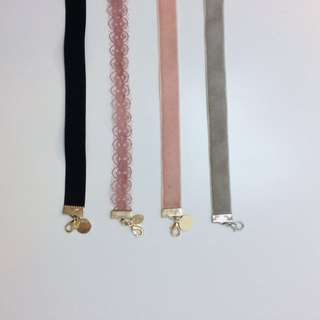 Assorted Chokers Lace & Suede