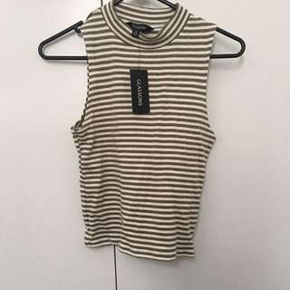 Glassons stripe high neck top