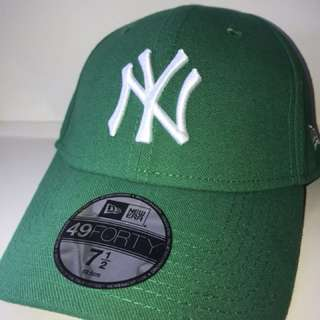 New Era NY Cap Green/White