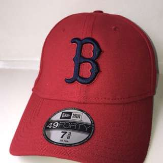 New Era Boston Cap Red/Black