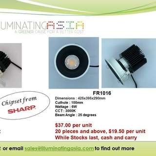 JAPAN sharp LED DOWNLIGHTS, cheap stock bargain price, new lights new home