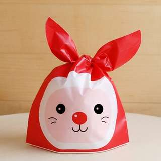 20pcs of Christmas Cute Plastic Bag for cookies, candy and gift