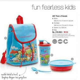 Tiwi and friends tupperware set