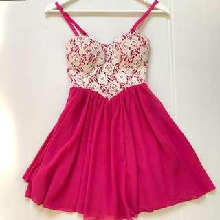 Pink Dotti Dress