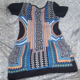 Printed bodycon dress Medium