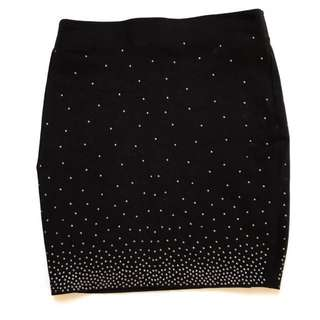 H&M Black Sequin Skirt
