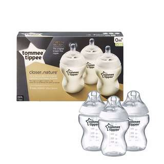 Tommee Tippee Closer To Nature First Feed Bottles 9Oz/ 260ml