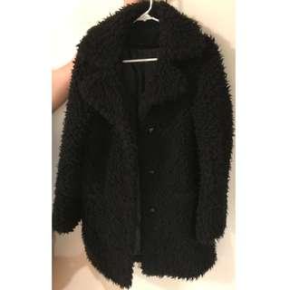 Topshop Teddy Fur Pea Coat