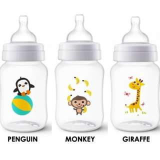 Philips Avent Classic Plus Penguin Design Bottle 9oz/ 260ml Single Pack