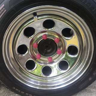 """Hiace Rims 16"""" with tyre."""