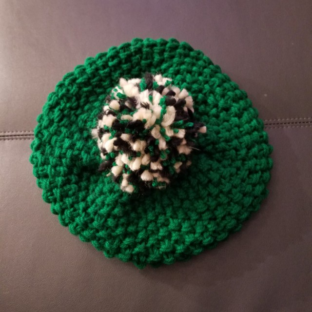100% handmade hat