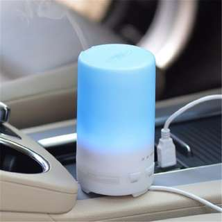 USB MUJI 70ML DIFFUSER. 7 LED LIGHTS. ESSENTIAL OIL HUMIDIFIER / AIR PURIFIER. FOR CARS. CHRISTMAS GIFTS & PRESENT, TREE