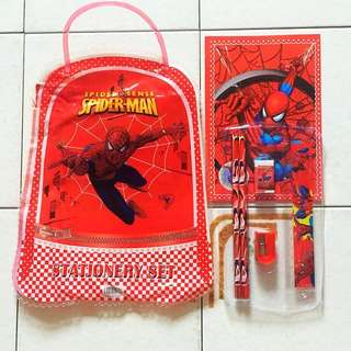 Spiderman Goodie Bag With Stationery Set