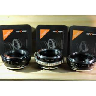 K&F Concept Micro Four Third M4/3 Adapters, Nikon, Canon, M42 lens to Olympus Panasonic camera
