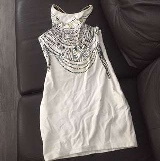 Dress with gold back size 8