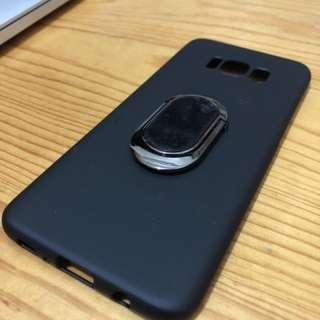 Samsung S8+ 手機殼連指環,送mon貼