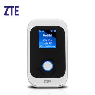 ZTE Pocket Mobile WiFi Modem Router (White) + USB Sling Cable MF91D