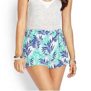 Botanical F21 Wrap Shorts