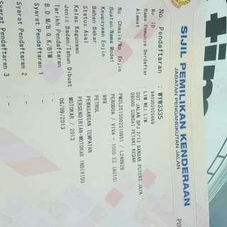 Perduo viva harga RM 20,000 siapa cepat dia dapat tahun 2013 harga boleh bincang lagi