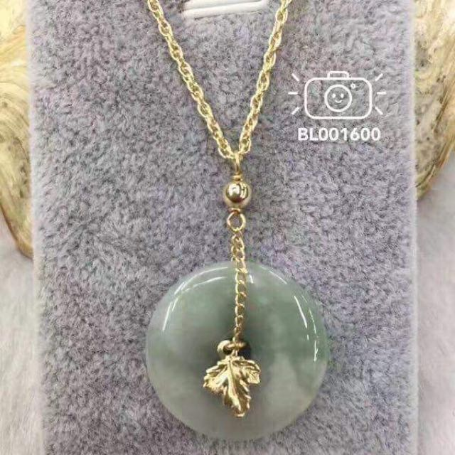 10K GOLD WITH GENUINE JADE STONE (real gold 10k)