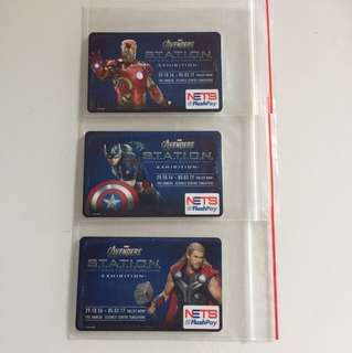 Limited Edition Marvel Avengers Ironman, Captain America and Thor Nets Flash Pay Cards For $7 Each.