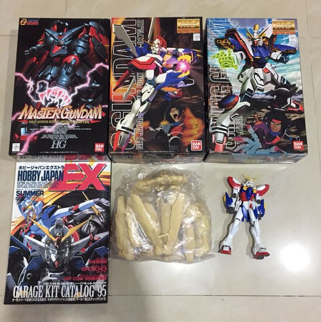 1/100 MG G Gundam collection sale w/ Free Resin & Magazine