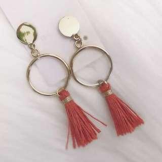 Small hoop & tassel earrings